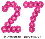 arabic numeral 27  twenty seven ...   Shutterstock . vector #1099595774