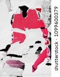 old ripped torn posters grunge... | Shutterstock . vector #1099600379