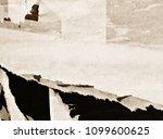 old grunge ripped torn vintage... | Shutterstock . vector #1099600625