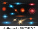 set glowing light sparkles ... | Shutterstock .eps vector #1099604777