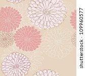 doodles of seamless floral... | Shutterstock . vector #109960577