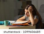 tired student studying hard...   Shutterstock . vector #1099606685