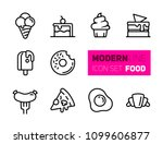 outline icons set of street... | Shutterstock .eps vector #1099606877