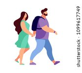 couple of young people in a... | Shutterstock .eps vector #1099617749