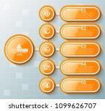 vector abstract 3d paper... | Shutterstock .eps vector #1099626707
