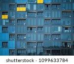 glass facade of high density... | Shutterstock . vector #1099633784