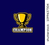 trophy logo design | Shutterstock .eps vector #1099637504