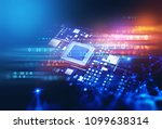 3d rendering futuristic blue...   Shutterstock . vector #1099638314