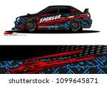 rally car wrap vector designs....   Shutterstock .eps vector #1099645871