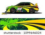 rally car wrap vector designs.... | Shutterstock .eps vector #1099646024