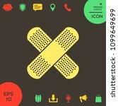 cross adhesive bandage  medical ... | Shutterstock .eps vector #1099649699