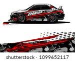 rally car wrap vector designs.... | Shutterstock .eps vector #1099652117