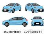 automobile  passenger car  set | Shutterstock .eps vector #1099655954