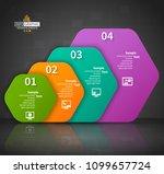 vector abstract 3d paper... | Shutterstock .eps vector #1099657724