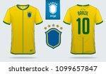set of soccer jersey or... | Shutterstock .eps vector #1099657847