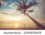 seascape of beautiful tropical... | Shutterstock . vector #1099659659