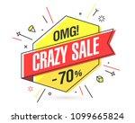 crazy sale banner template in... | Shutterstock .eps vector #1099665824