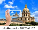 photographing les invalides in... | Shutterstock . vector #1099669157