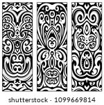maori ethnic ornaments set.... | Shutterstock .eps vector #1099669814