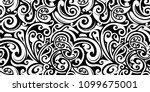 polynesian ethnic style... | Shutterstock .eps vector #1099675001