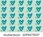 heart paint like graphic... | Shutterstock . vector #1099675037