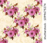 seamless floral pattern with... | Shutterstock .eps vector #1099675274