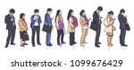 illustration of people standing ... | Shutterstock .eps vector #1099676429