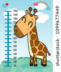 meter wall with giraffe....   Shutterstock .eps vector #1099677449