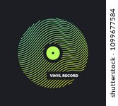 poster of the vinyl record.... | Shutterstock .eps vector #1099677584