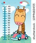 meter wall with giraffe....   Shutterstock .eps vector #1099683455