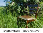 golden mahogany chair on the...   Shutterstock . vector #1099700699