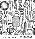seamless pattern with... | Shutterstock .eps vector #1099700867