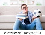 young student trying to balance ... | Shutterstock . vector #1099701131
