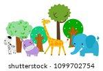 group of animals | Shutterstock .eps vector #1099702754