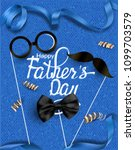 father's day greeting card with ... | Shutterstock .eps vector #1099703579