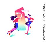 illustration of a boy and a... | Shutterstock .eps vector #1099708589