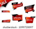 summer sale set isolated vector ... | Shutterstock .eps vector #1099720097