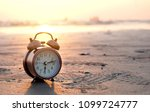morning of a new day  alarm... | Shutterstock . vector #1099724777
