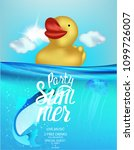 summer party banner with yellow ... | Shutterstock .eps vector #1099726007