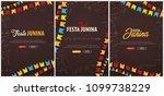 set of festa junina backgrounds ... | Shutterstock .eps vector #1099738229