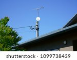 electric pull in telephone pole ...   Shutterstock . vector #1099738439