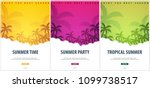 summer tropical backgrounds set ... | Shutterstock .eps vector #1099738517