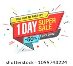 one day super sale banner... | Shutterstock .eps vector #1099743224