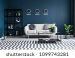 patterned carpet in navy blue... | Shutterstock . vector #1099743281