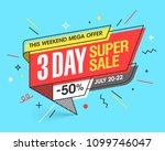 weekend three day super sale... | Shutterstock .eps vector #1099746047