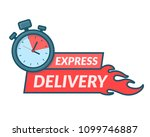 express delivery icon in line...   Shutterstock .eps vector #1099746887