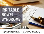 irritable bowel syndrome  ibs . ... | Shutterstock . vector #1099750277