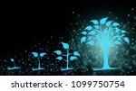 background of abstract fintech... | Shutterstock . vector #1099750754