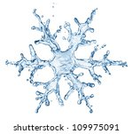 Snowflake From Water Splash...