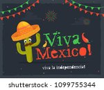 independence day of mexico... | Shutterstock .eps vector #1099755344